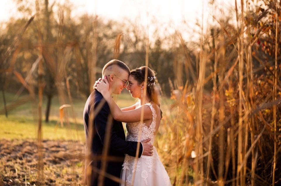 jesienna sesja poślubna w parku w Ostromecku