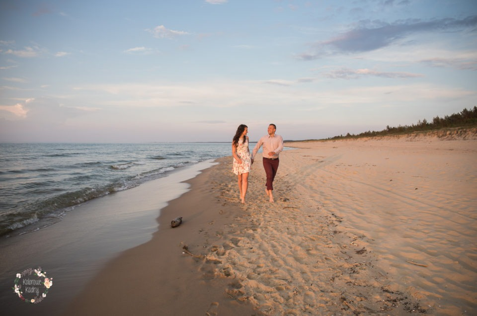 Engagement session at the seaside